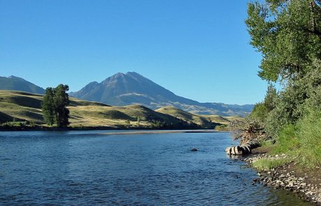 Yellowstone River in the Paradise Valley of Montana