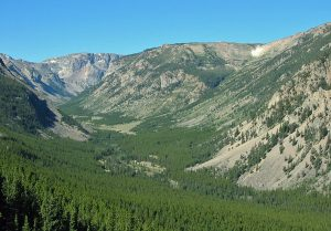 Scenic Valley in the Beartooth Mountains
