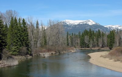 The Swan River in Northwest Montana