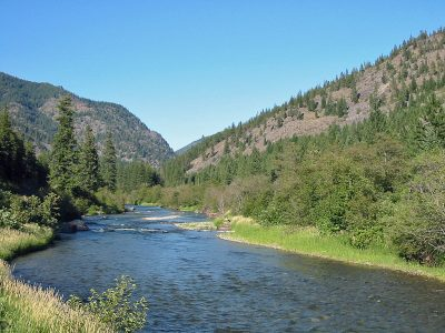 Thompson River in Northwest Montana