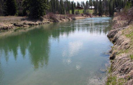 Whitefish River in Northwest Montana