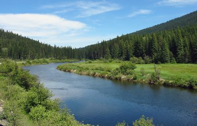 Yaak River in Northwest Montana