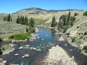 Lamar River in Yellowstone National Park