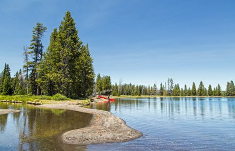 Canoe along Yellowstone Lake