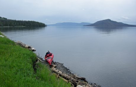 Kayak along Yellowstone Lake
